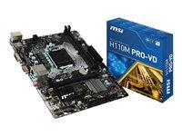 MSI H110M PRO-VD Bundkort micro-ATX LGA1151 Socket H110 USB 3.1 Gen 1