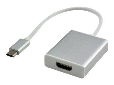 MCL Samar - Adaptateur audio/vidéo - HDMI / USB - HDMI (F) pour USB de type C (M) - 22 cm - Sachet