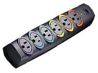 Kensington SmartSockets Basic Strip w/ color-coded sockets