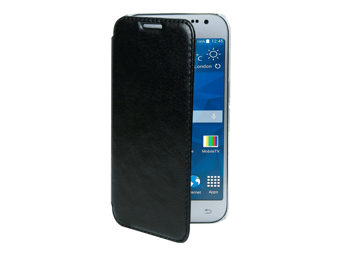 Muvit Made in Paris Crystal Folio - Protection à rabat pour Samsung Galaxy Core Prime - noir