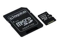 Kingston - Tarjeta de memoria flash (adaptador microSDXC a SD Incluido) - 128 GB