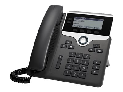 Cisco IP Phone 7821 - Telefon VoIP - SIP, SRTP - 2 linky