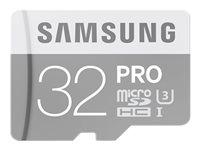 SAMSUNG, Micro SD Card PRO 32GB w/Adapter
