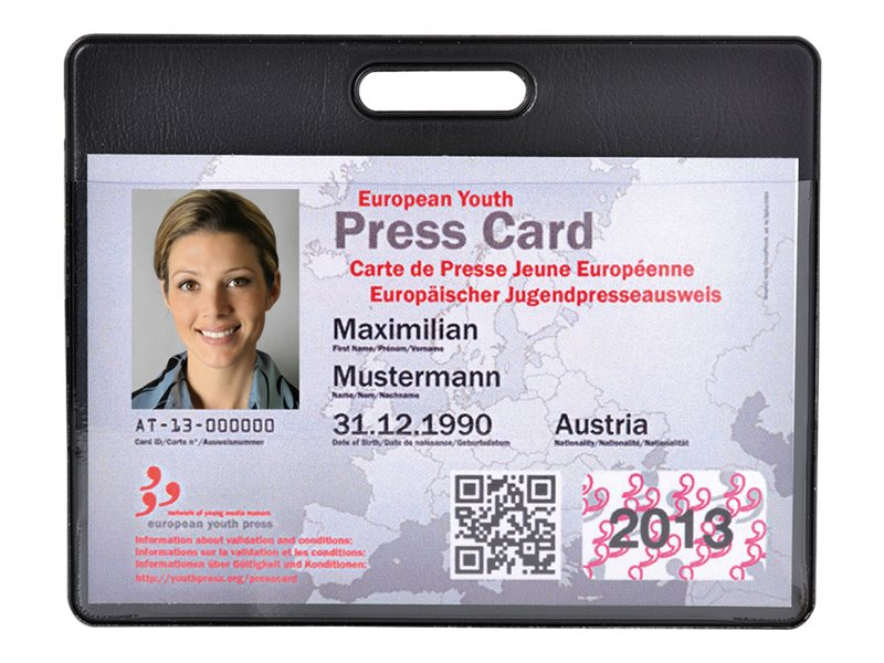 Exacompta Hidentity - Couverture de protection de carte d'admission - PVC - noir