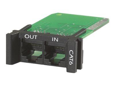 APC ProtectNet Surge Module for CAT6 or CAT5/5e Network Line - Ochrana proti přepětí (zásuvný modul) - černá