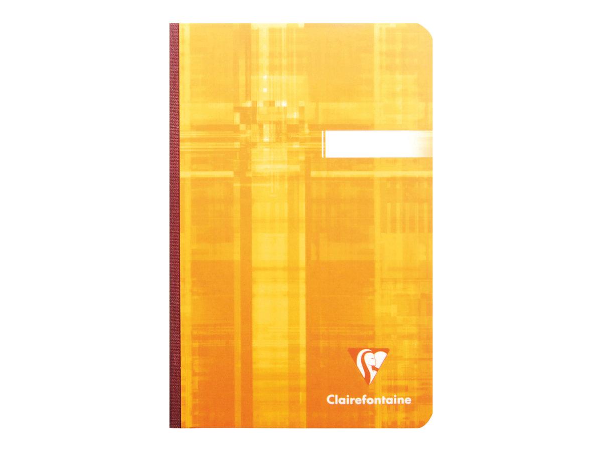 Clairefontaine A6+ - Carnet broché - 11 x 17 cm - 192 pages - petits carreaux - couvertures aux couleurs assorties