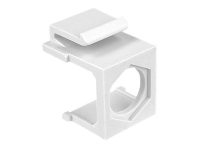 DeLOCK keystone cover with hex hole - Modular insert (cutout) - bílá - 1 port (balení 4 )