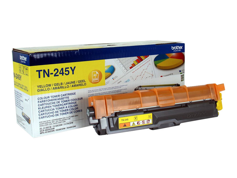 Brother TN245Y - à rendement élevé - jaune - original - cartouche de toner