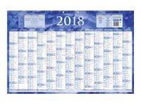 CBG Bleu 228 - Calendrier janvier 2017 - janvier 2018 - visualisation de 13 mois - 430 x 650 mm