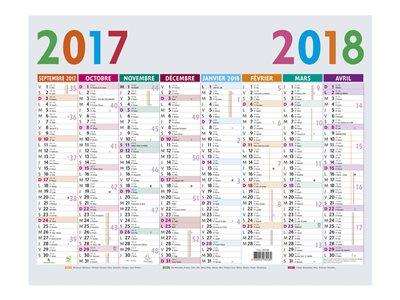 Calendrier scolaire et planning prix discount bureau for Grand calendrier mural 2017