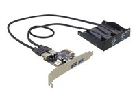 Delock Front Panel 2 x USB 3.0+PCI Exp, Delock Front Panel 2 x U
