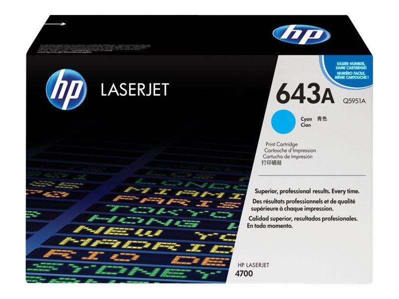 HP 643A - cyan - original - LaserJet - cartouche de toner ( Q5951A )