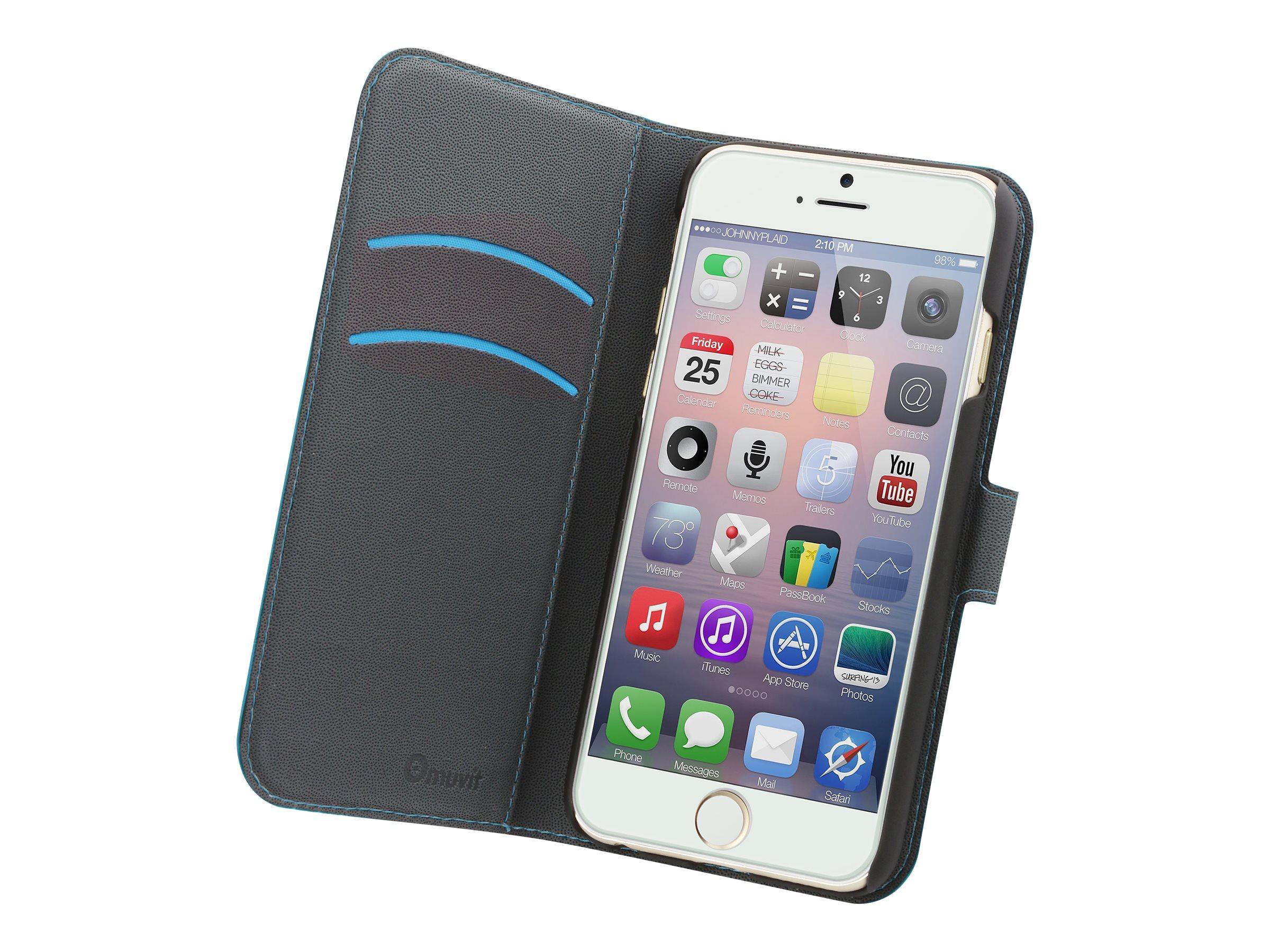 Muvit Folio - Protection à rabat pour iPhone 6 Plus - turquoise