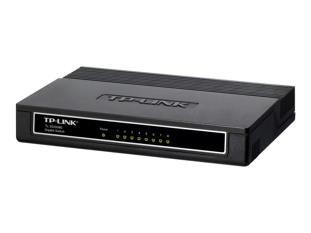 TP-LINK TL-SG1008D 8-Port Gigabit Desktop Switch - commutateur - 8 ports - Ordinateur de bureau