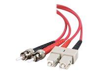 2465 Fiber Patch Cord 2 Meter LC//LC Duplex Multimode OM1 62.5//125 Fiber Cable