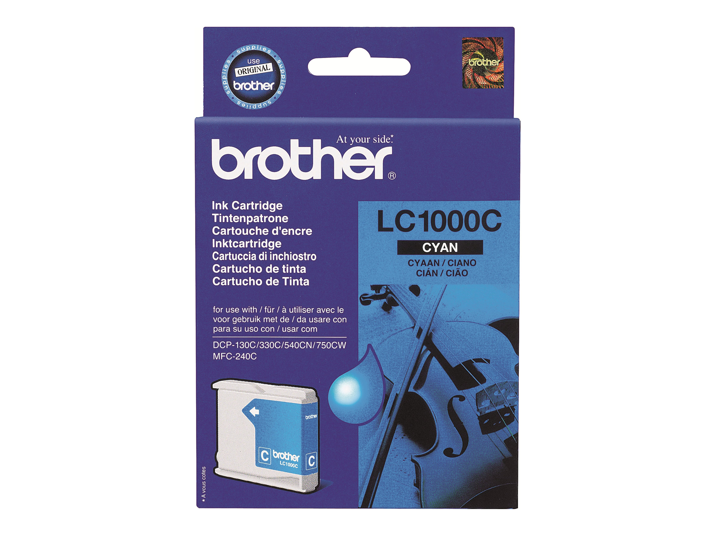 Brother LC1000C - cyan - original - cartouche d'encre