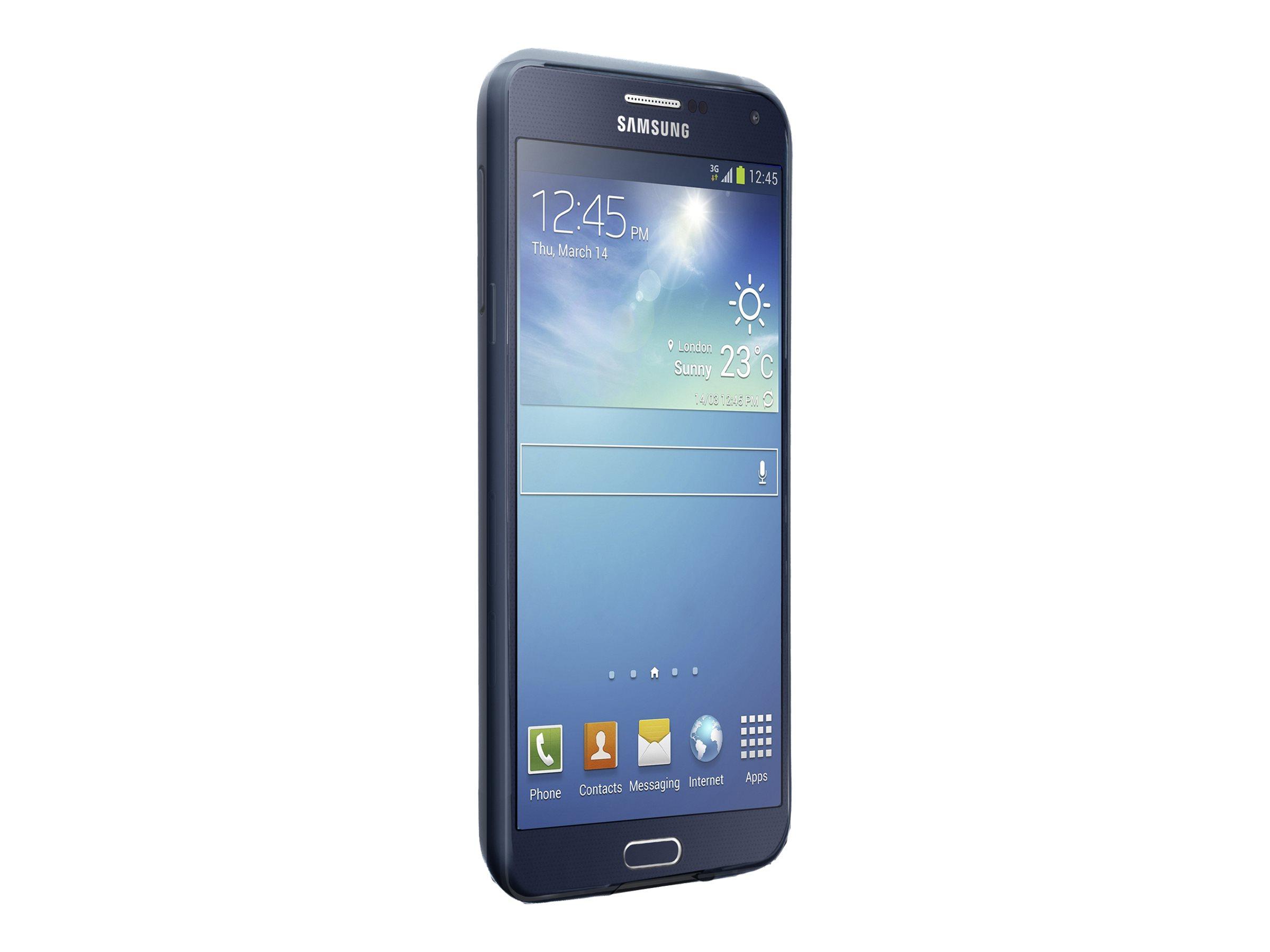 Muvit iBelt - Coque pare-chocs pour Samsung Galaxy S6 - noir, transparent