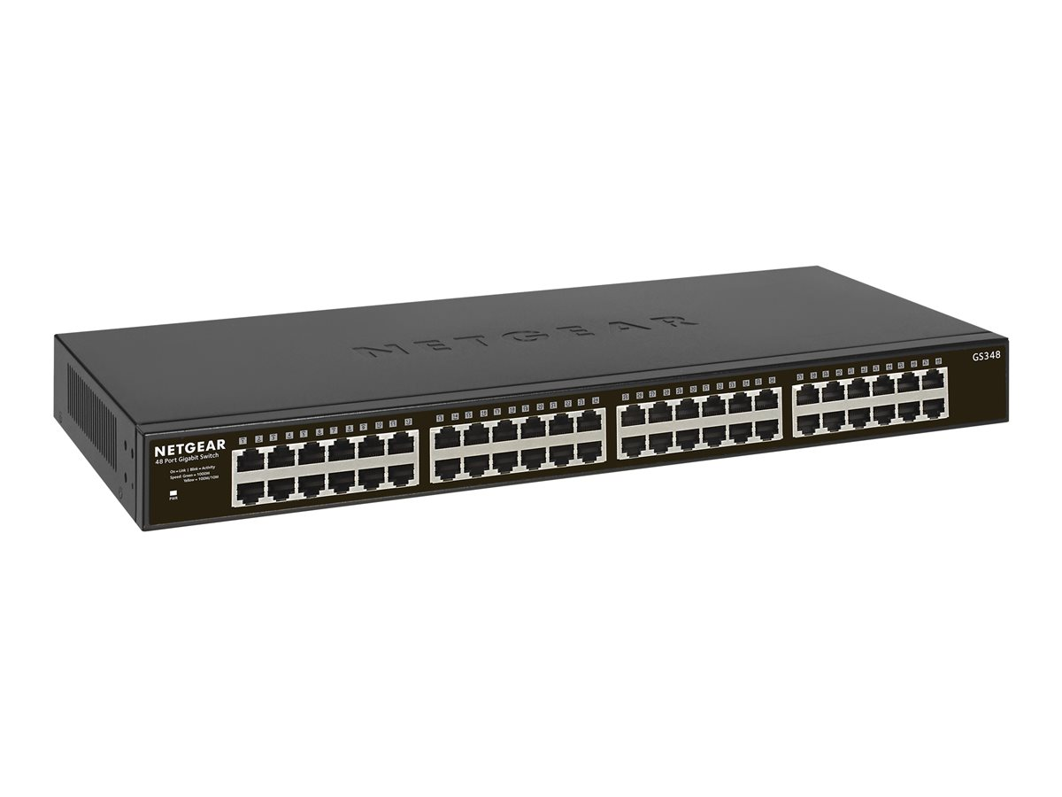 NETGEAR GS348-100EUS GS348 48-Port Gigabit Ethernet... | Comms Express