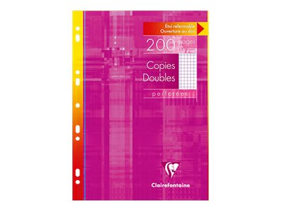 Clairefontaine - A4 - Copies doubles - 21 x 29,7 - 200 pages - Petits carreaux