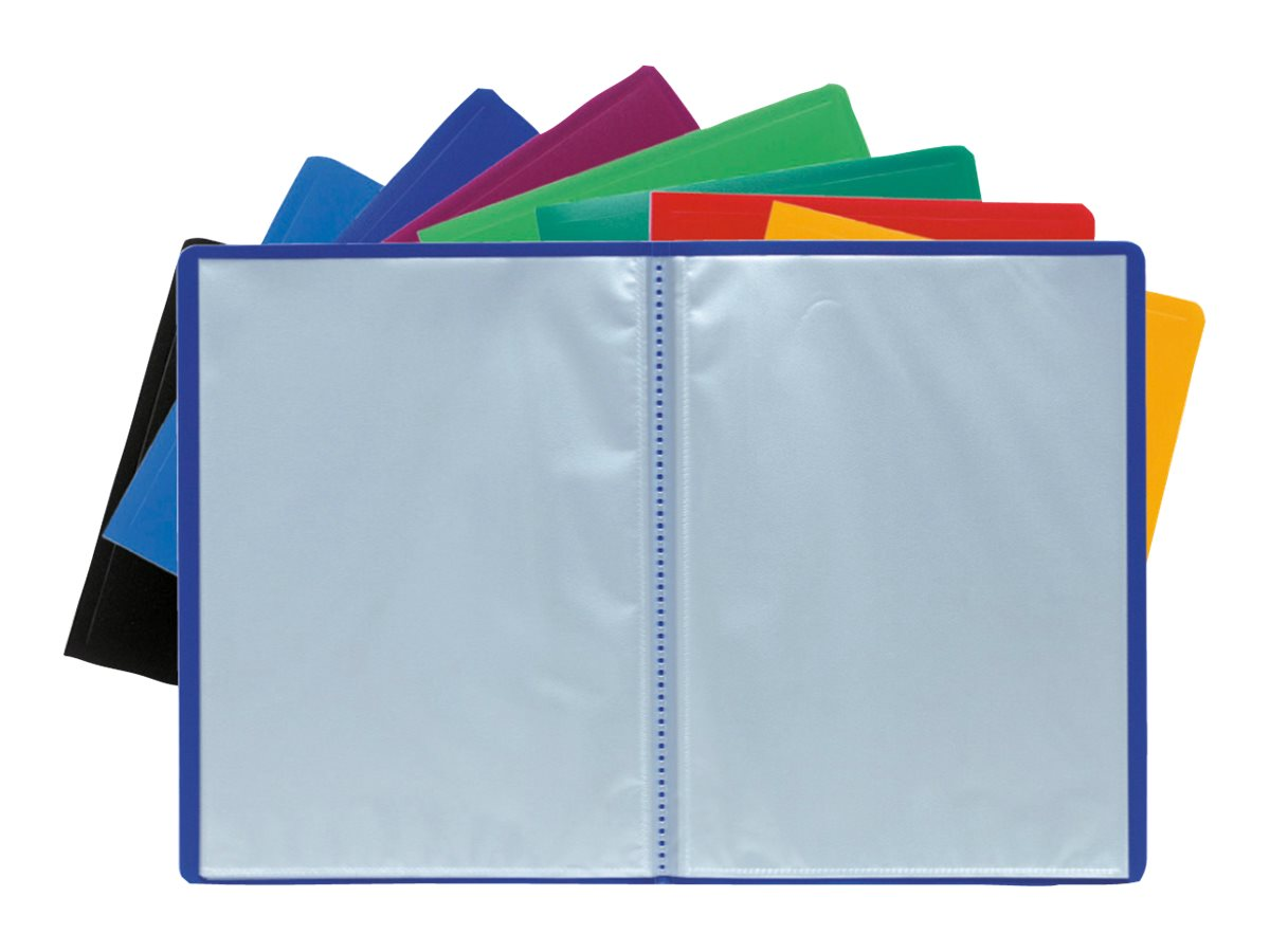 Exacompta Opaque - Porte vues - 160 vues - A4 - couleurs assorties