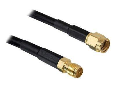 DeLOCK antenna extension cable RP-SMA - Prodlužovací anténní kabel - RP-SMA (M) do RP-SMA (F) - 10 m - černá