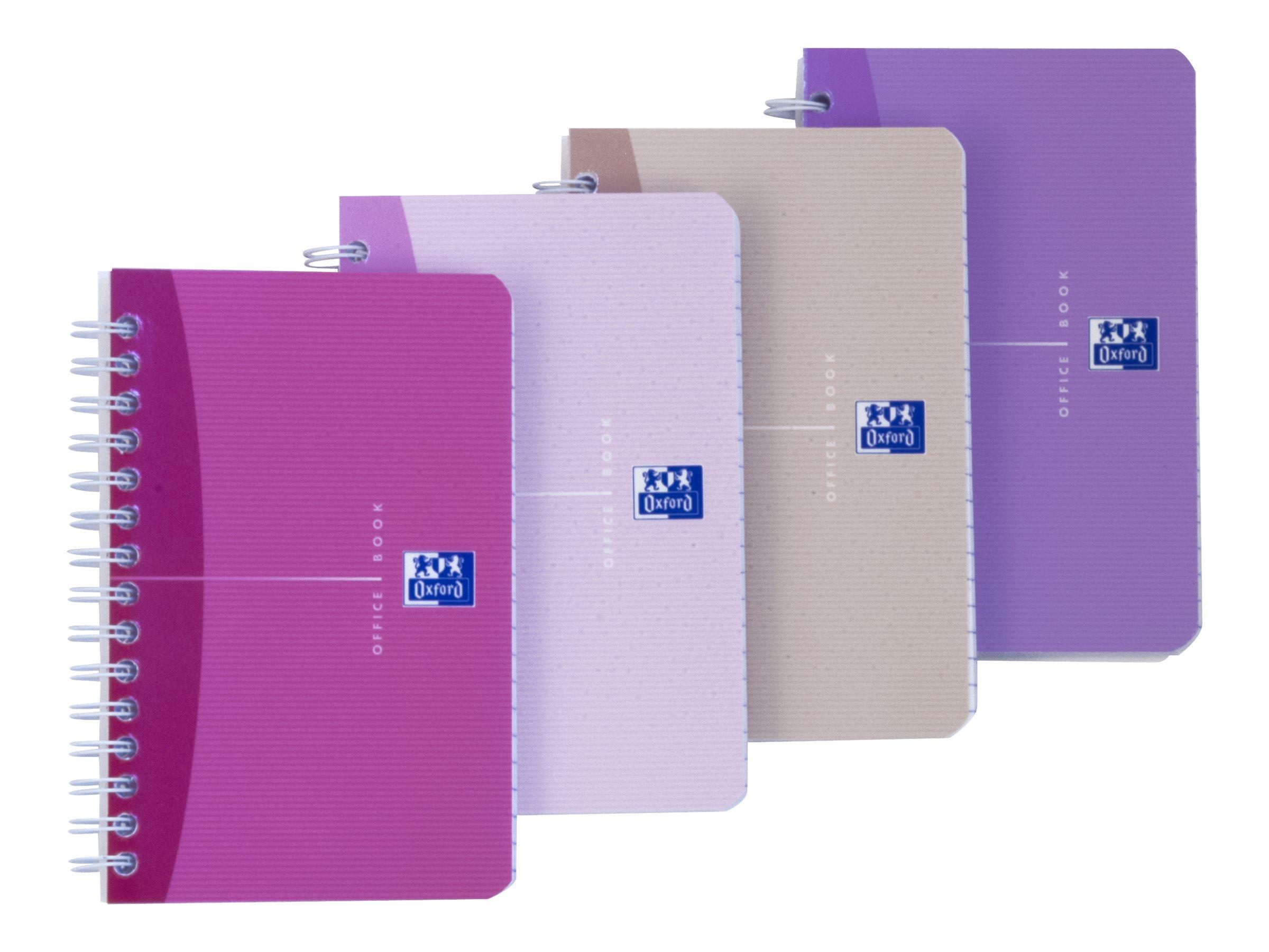Oxford Office Beauty - Carnet - 9 x 14 cm - 180 pages - ligné - disponible dans différentes couleurs
