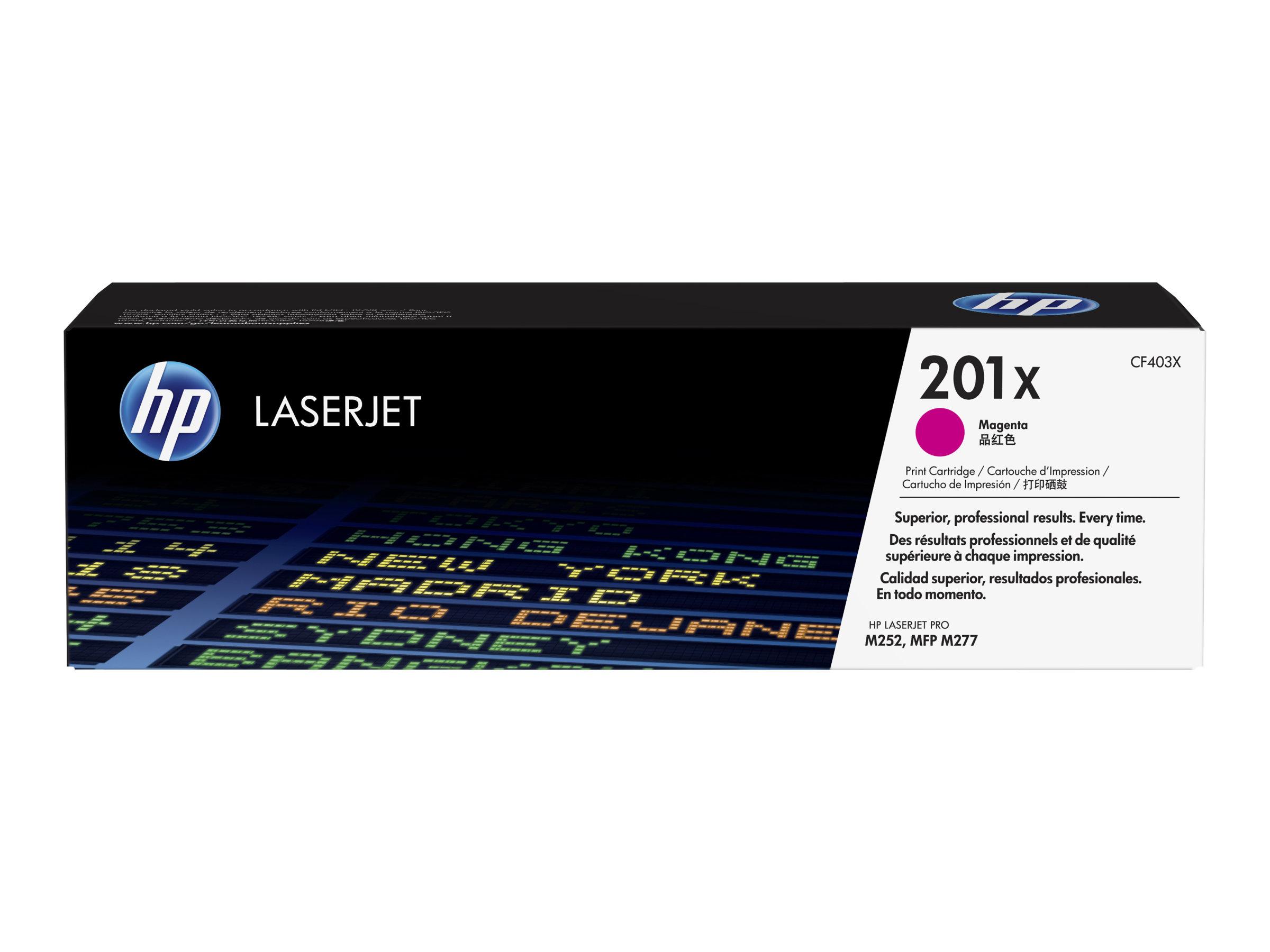 HP 201X - à rendement élevé - magenta - originale - LaserJet - cartouche de toner (CF403X)
