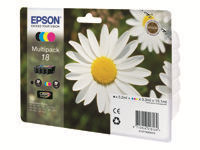 Epson 18 Multipack 4 pakker 15.1 ml sort, gul, cyan, magenta original