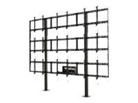 """Peerless-AV MountSmart Modular Video Wall Pedestal DS-S555-3X3 - Mounting kit (floor mount) for 9 LCD / plasma panels - powder-coated aluminum - black - screen size: 46""""-55"""""""
