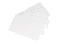 Evolis - Wood fiber - 30 mil - blank white - CR-80 Card (3.37 in x 2.13 in) 100 card(s) box - cards (pack of 5) - for Edikio Flex; Evolis Primacy, Zenius