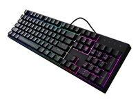 Cooler Master MasterKeys Lite L RGB Tastatur backlit USB Nordisk sort