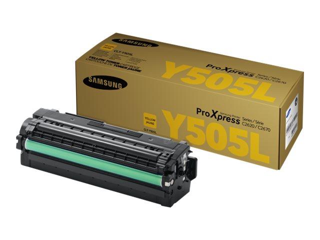 Samsung CLT-Y505L - à rendement élevé - jaune - originale - cartouche de toner