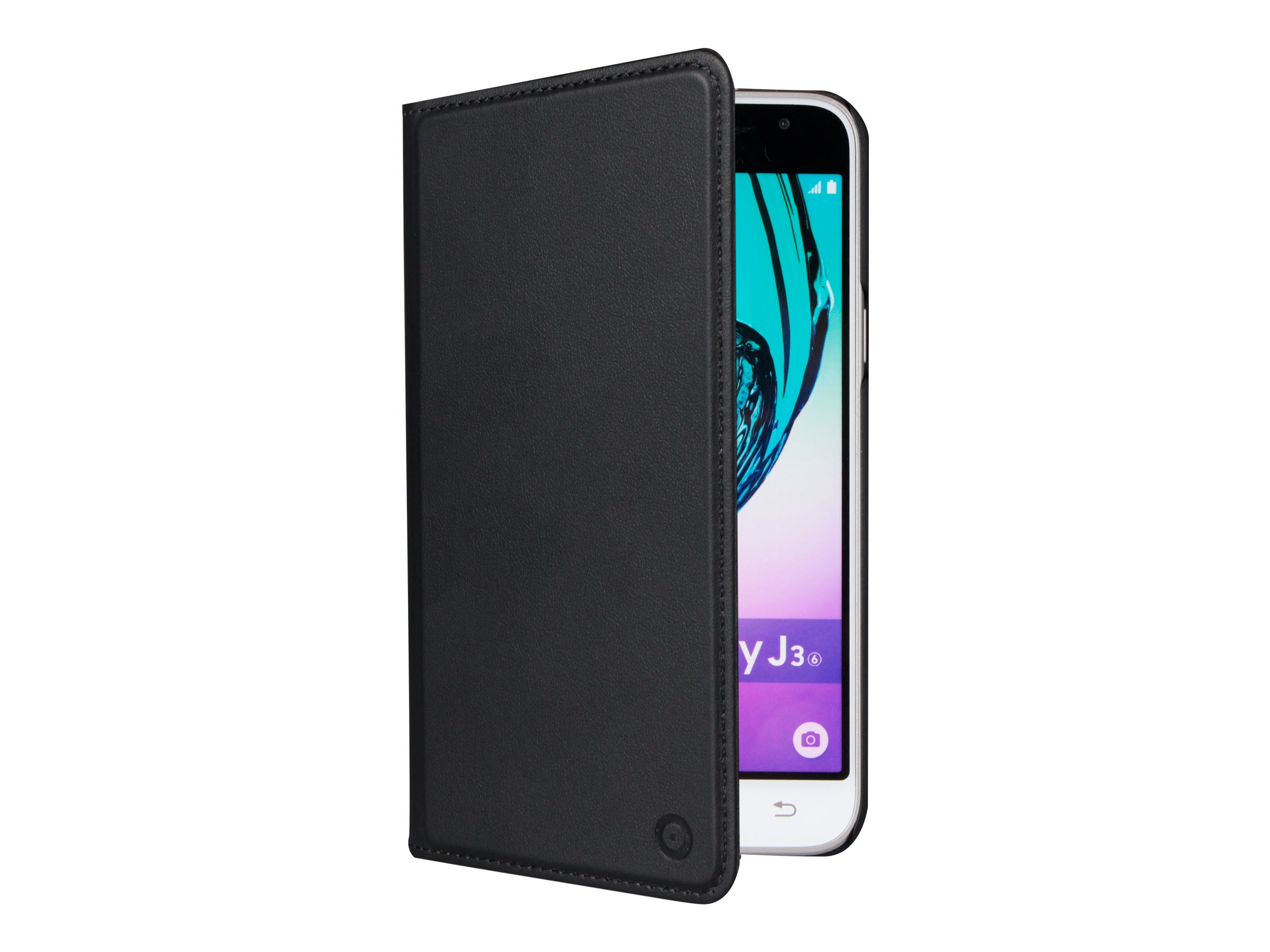 Muvit Folio Stand - Protection à rabat pour Samsung Galaxy J3 - noir