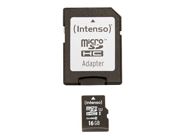 Intenso Premium   flash memory card   16 GB   microSDHC UHS I