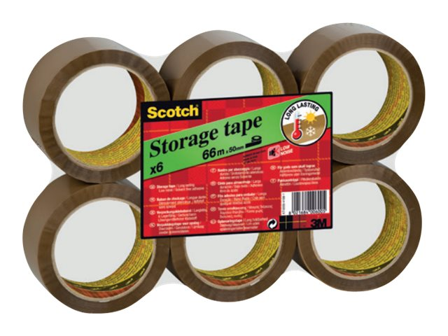 Scotch - 6 rubans d'emballage - 50 mm x 60 m - havane