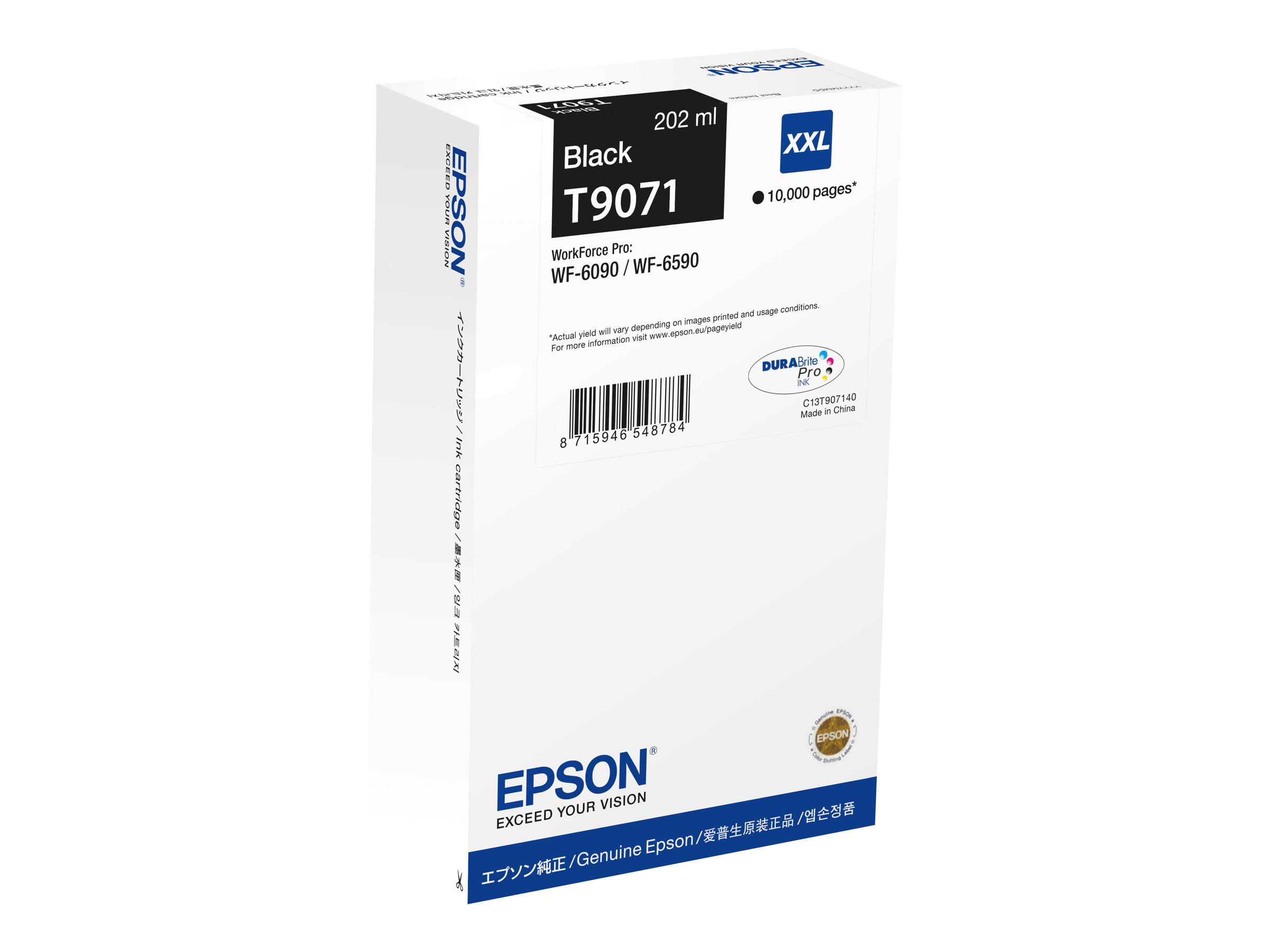 Epson T9071 - taille XXL - noir - originale - cartouche d'encre