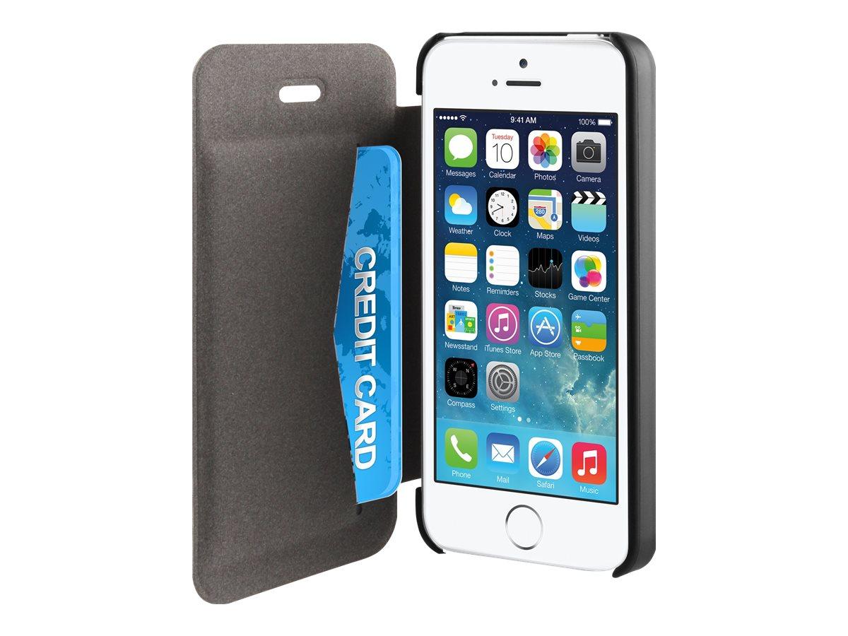 Muvit Easy Folio - Protection à rabat pour iPhone 5, 5s -noir