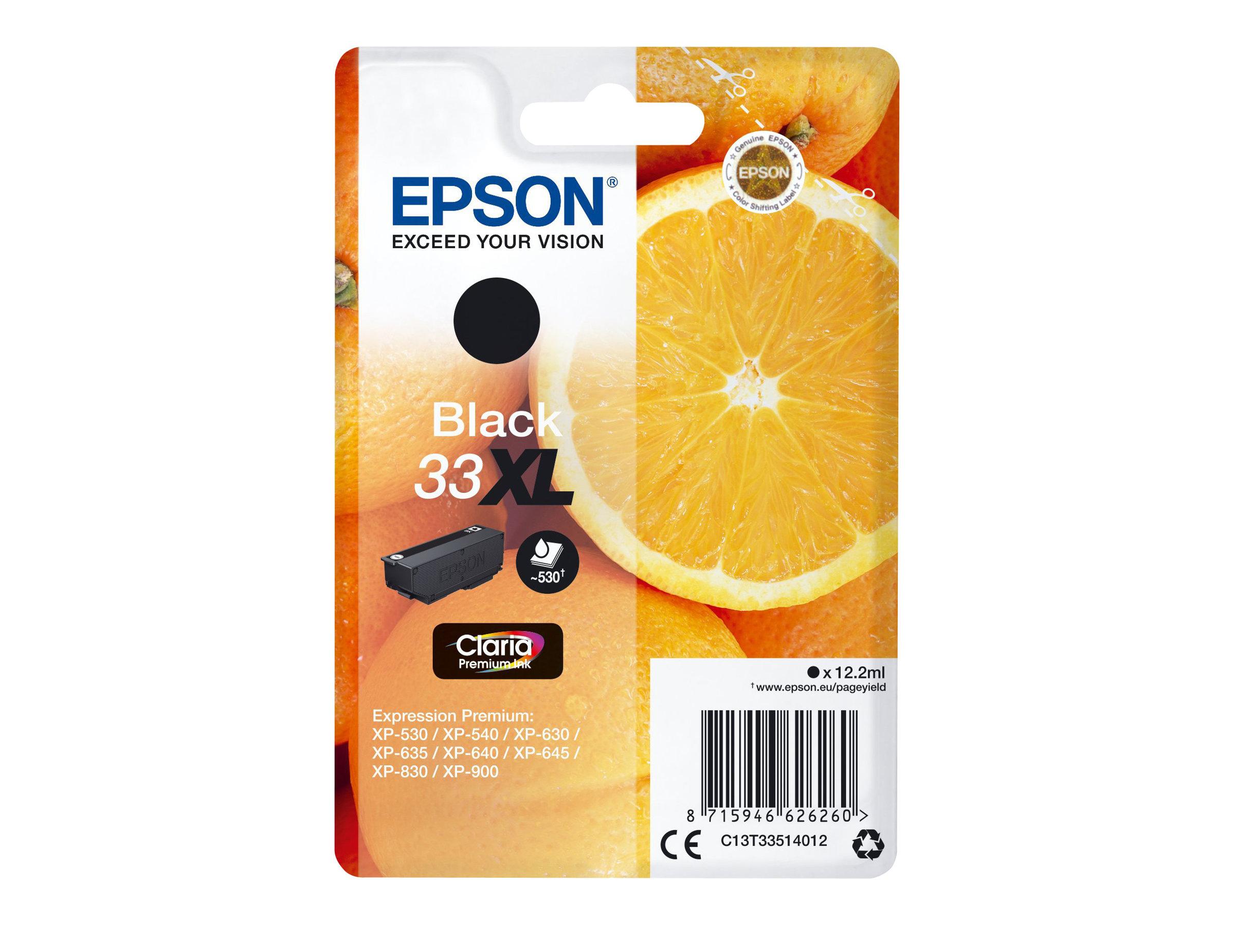 Epson T33XL - oranges - taille XL - noir - originale - cartouche d'encre