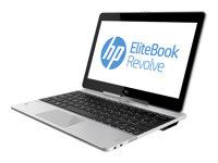 "HP EliteBook Revolve 810 G1 Tablet - Convertible - Core i5 3437U / 1.9 GHz - Win 7 Pro 64-bit - 12 GB RAM - 256 GB SSD - 11.6"" touchscreen 1366 x 768 (HD) - HD Graphics 4000 - NFC"