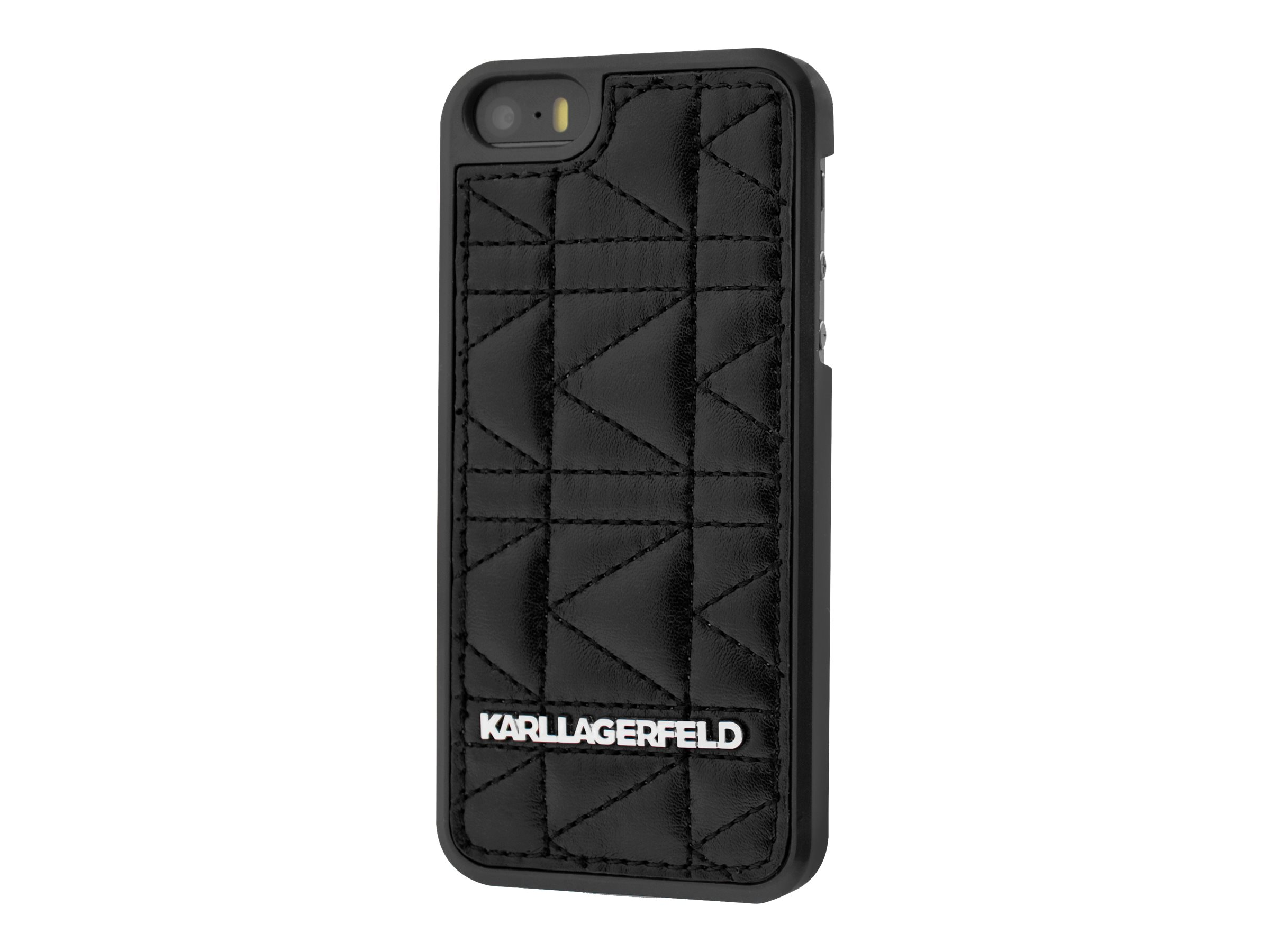 KARL LAGERFELD KUILTED - Coque de protection pour pour iPhone 6 Plus - cuir - noir