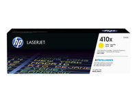 HP 410X - High Yield - yellow - original - LaserJet - toner cartridge (CF412X) - for Color LaserJet Pro M452, MFP M377, MFP M477