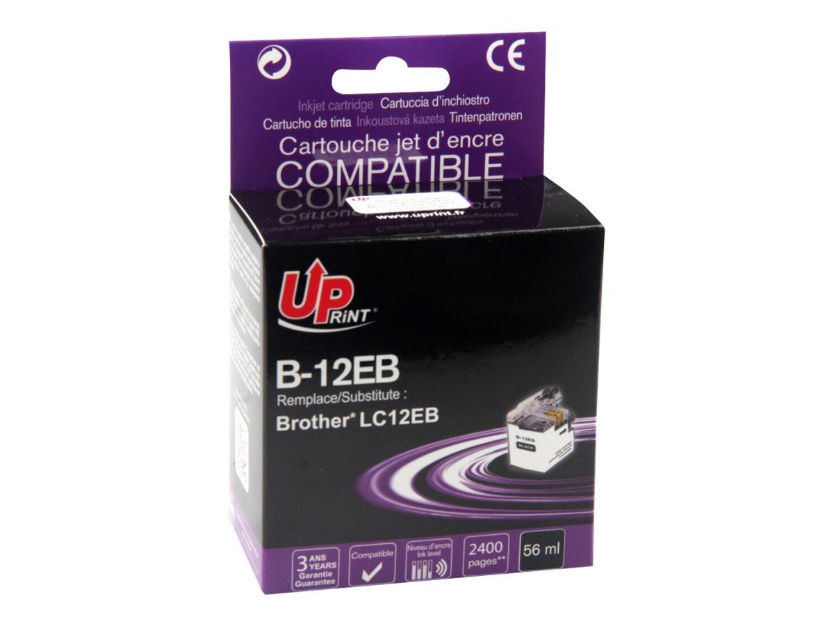 Brother LC12E compatible Uprint - noire - cartouche d'encre