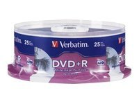 Verbatim 25Pk Dvd+R 4.7Gb 16X Hub Printable Wht Sp