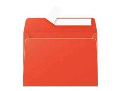 Pollen - Enveloppe - 114 x 162 mm - avec bande (auto-adhésif) - rouge corail - pack de 20