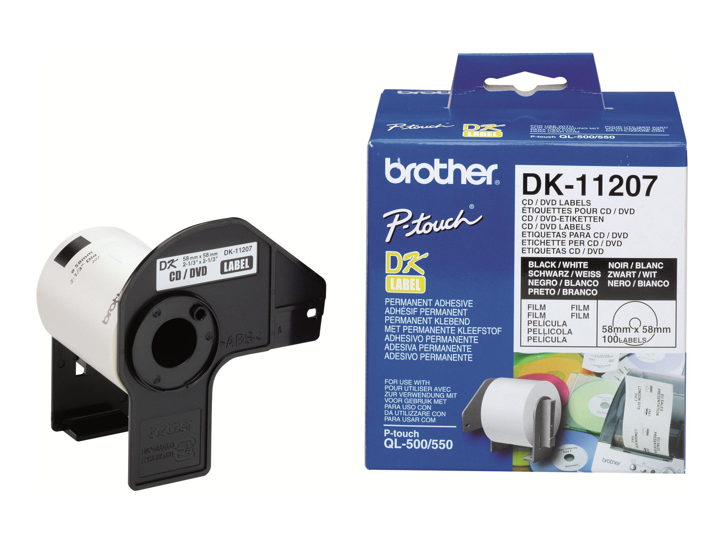 Brother DK-11207 - étiquettes pour CD/DVD