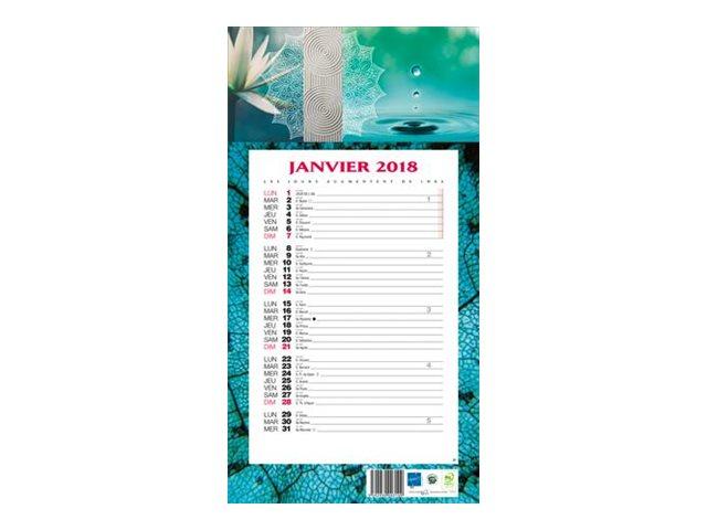 CBG 409 Ambiance - calendrier de bloc mensuel