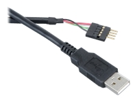 Akasa EXUSBIE-40 USB-kabel USB (han) USB 2.0 40 cm sort