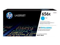 HP 656X - High Yield - cyan - original - LaserJet - toner cartridge (CF461X) - for Color LaserJet Enterprise M652dn, M652n, M653dh, M653dn, M653x