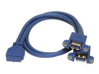 StarTech.com Câble USB 3.0 2ports monte sur panneau ? Câble USB à vers adaptateur carte mere F/F