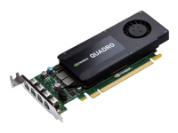 NVIDIA Quadro K1200 - Graphics card - Quadro K1200 - 4 GB GDDR5 - PCIe 2.0 x16 low profile - 4 x Mini DisplayPort - for Workstation Z230, Z240, Z440, Z640, Z840
